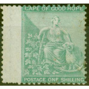 Cape of Good Hope 1864 1s Green SG26a Good Mtd Mint