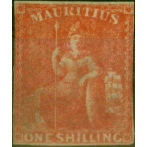 Mauritius 1859 1s Vermilion SG34 Good Unused CV £3250