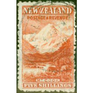 New Zealand 1902 5s Vermilion SG317ba Wmk Upright Fine Used