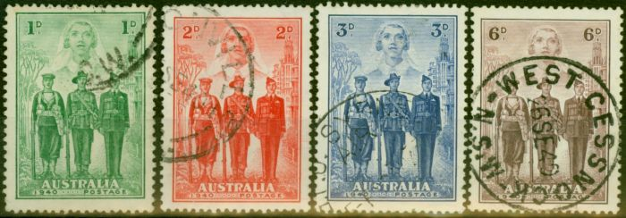 Rare Postage Stamp from Australia 1940 Imperial Forces Set of 4 SG196-199 Fine Used