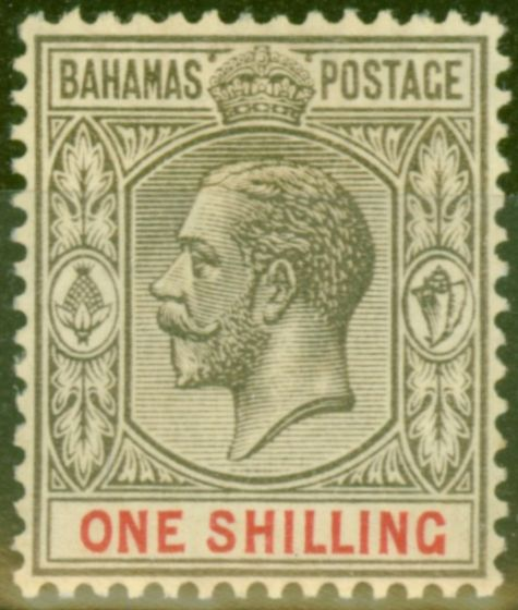 Collectible Postage Stamp from Bahamas 1926 1s Black & Carmine SG123 V.F Very Lightly Mtd Mint