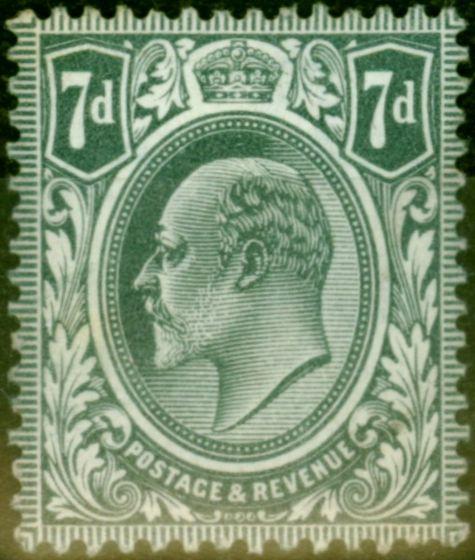 GB 1902 7d Grey-Black SG249 Fine Mtd Mint