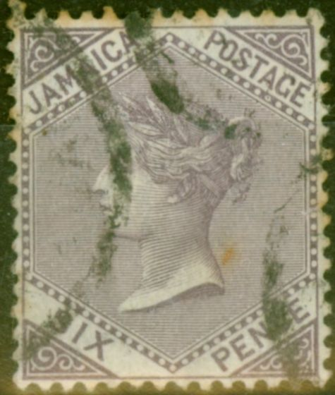 Collectible Postage Stamp from Jamaica 1909 6d Lilac SG52 Good Used