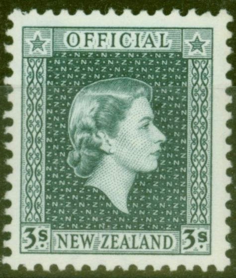 Rare Postage Stamp from New Zealand 1963 3s Slate SG0167 V.F MNH