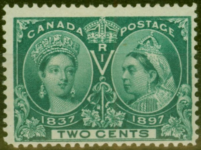 Collectible Postage Stamp from Canada 1897 2c Dp Green SG125 Fine Mtd Mint