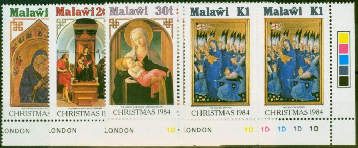 Valuable Postage Stamp from Malawi 1984 Christmas Set of 4 SG716-719 in V.F MNH Control Corner Marginals