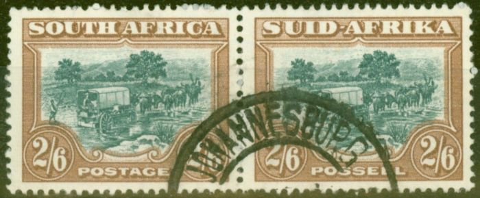 Rare Postage Stamp from South Africa 1949 2s6d Green & brown SG121 V.F.U