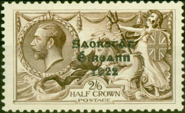 Old Postage Stamp from Ireland 1927 2s6d Chocolate-Brown SG86c Flat Accent on 'A' Fine Lightly Mtd Mint