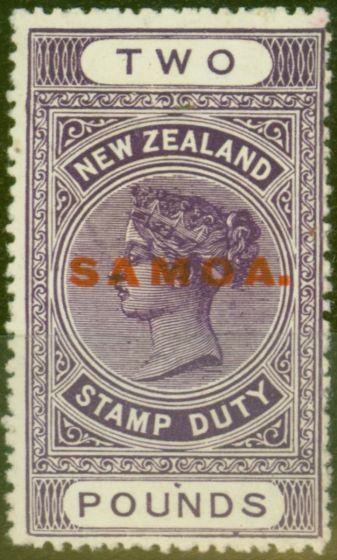Valuable Postage Stamp from Samoa 1932 £2 Brt Purple SG175 Fine MNH