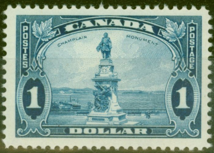 Collectible Postage Stamp from Canada 1935 $1 Bright Blue SG351 V.F Very Lightly Mtd Mint