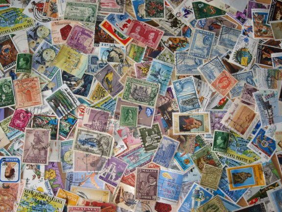 Old Postage Stamp from 1000 British Commonwealth Stamps ~ Kiloware Mixture