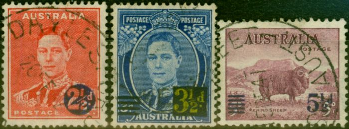 Valuable Postage Stamp from Australia 1941 Set of 3 SG200-202 Fine Used