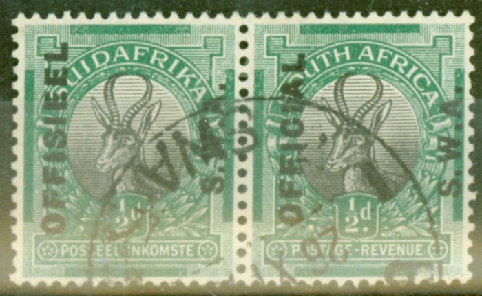 Old Postage Stamp from S.W.A 1929 1/2d Black & Green SG09 V.F.U