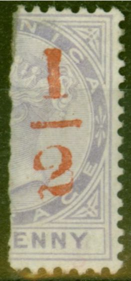 Valuable Postage Stamp from Dominica 1882 1/2 on Half 1d SG11 Fine Lightly Mtd Mint