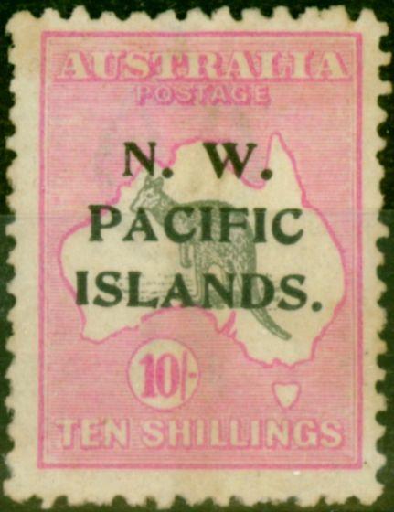 New Guinea 1919 10s Grey & Bright Pink SG117 Fine Unused