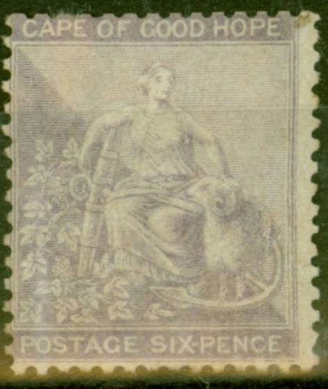 Collectible Postage Stamp from Cape of Good Hope 1864 6d Pale Lilac SG25 Good Mtd Mint