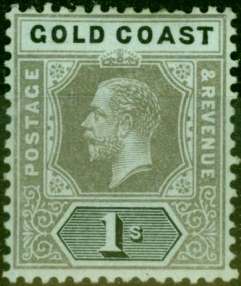 Valuable Postage Stamp from Gold Coast 1916 1s Olive Back SG79c Fine Mtd Mint