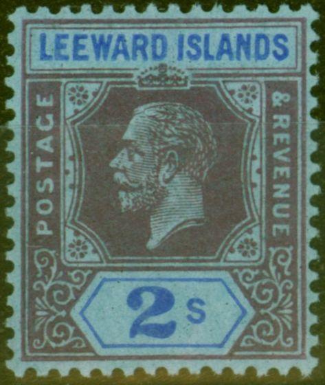 Valuable Postage Stamp from Leeward Is 1922 2s Purple & Blue-Blue SG74 Good Mtd Mint