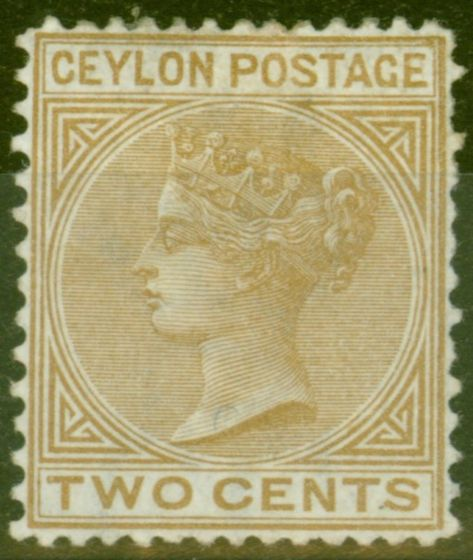 Collectible Postage Stamp from Ceylon 1872 2c Brown SG133 P. 14 x 12.5 Fine Mtd Mint Scarce