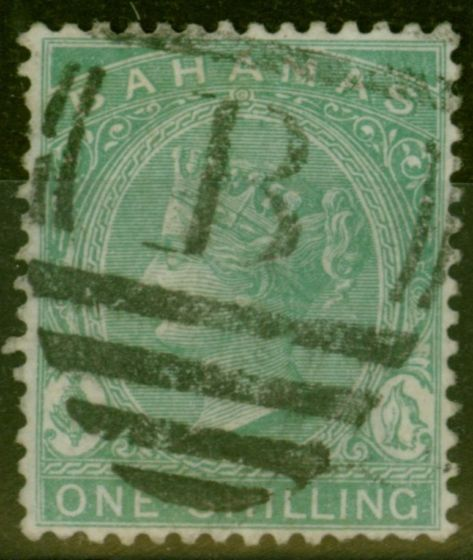 Valuable Postage Stamp from Bahamas 1898 1s Blue-Green SG44a Fine Used