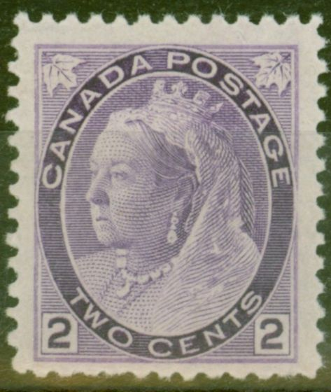 Collectible Postage Stamp from Canada 1898 2c Violet SG154 Fine & Fresh Lightly Mtd Mint