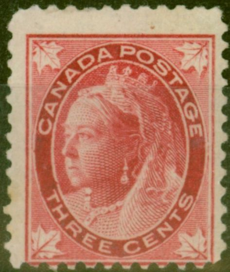 Old Postage Stamp from Canada 1898 3c Carmine SG144 Ave Mtd Mint