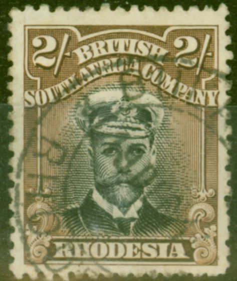 Collectible Postage Stamp from Rhodesia 1913 2s Black & Brown SG214 Die I Fine Used