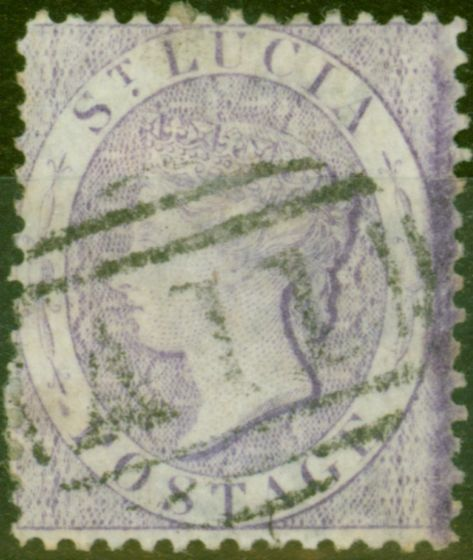 Valuable Postage Stamp from St Lucia 1876 (6d) Mauve SG17 Fine Used