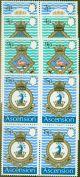 Ascension 1971 Navy Crest 3rd Series set of 4 SG149-152 in Superb MNH Blocks of 4