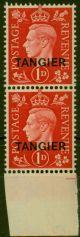 Tangier 1937 1d Scarlet SG246 V.F MNH Vert Pair
