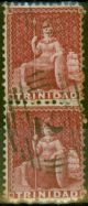 Trinidad 1862 Crimson Lake SG60 Fine Used Vert Pair