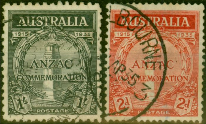 Valuable Postage Stamp from Australia 1935 Gallipoli Set of 2 SG154-155 Fine Used