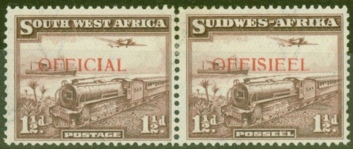 Collectible Postage Stamp from S.W.A 1938 1 1/2d Purple-Brown SG017 Fine Lightly Mtd Mint