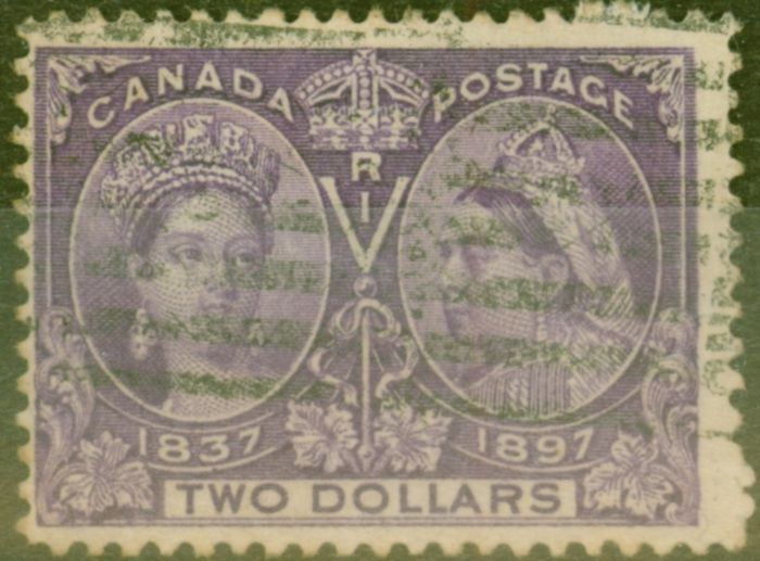 Old Postage Stamp from Canada 1897 $2 Dp Violet SG137 Fine Used