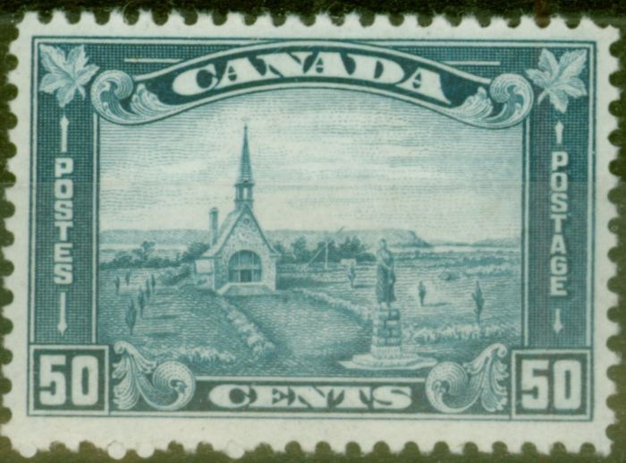Valuable Postage Stamp from Canada 1930 50c Blue SG302 Fine Lightly Mtd Mint