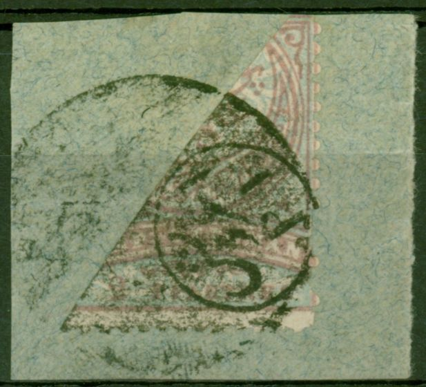 Old Postage Stamp from Turkey Baghdad 1Pi Surcharge Opt on 2pi Bisected Negative Seal SG187b Fine Used