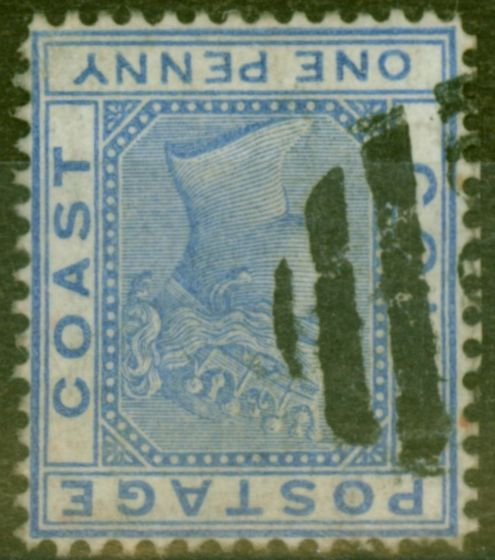 Valuable Postage Stamp from Gold Coast 1876 3d Blue SG45w Wmk Inverted Fine Used