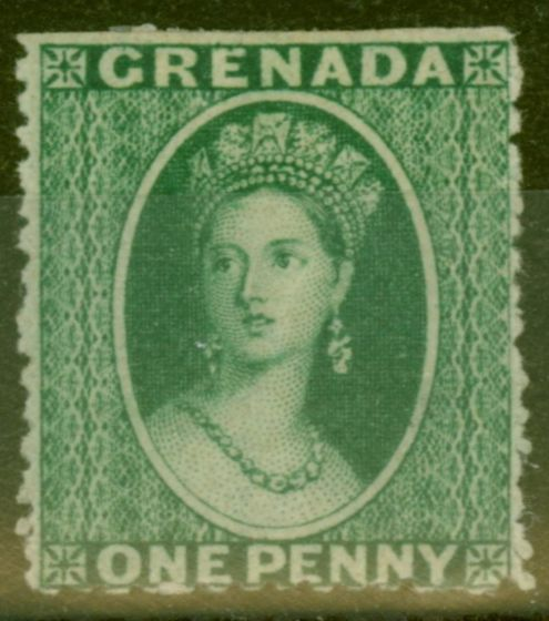 Valuable Postage Stamp from Grenada 1864 1d Green SG4 Fresh Mtd Mint