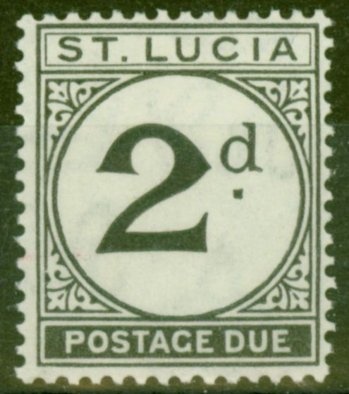 Collectible Postage Stamp from St Lucia 1933 2d Black SGD4 Fine Very Lightly Mtd Mint