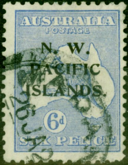 New Guinea 1919 6d Ultramarine SG110 Fine Used