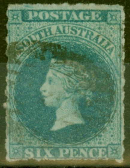 Collectible Postage Stamp from South Australia 1857 6d Slate-Blue SG10 Fine Used