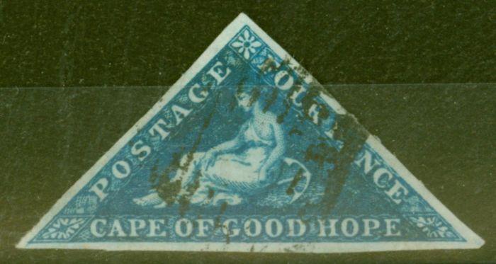Valuable Postage Stamp from COGH 1853 4d Dp Blue SG4 V.F.U 3 Large Even Margins