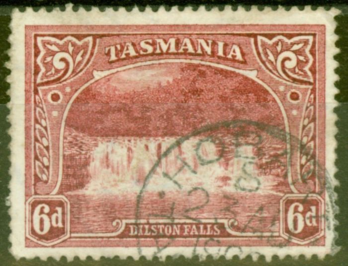 Old Postage Stamp from Tasmania 1900 6d Lake SG236 Fine Used