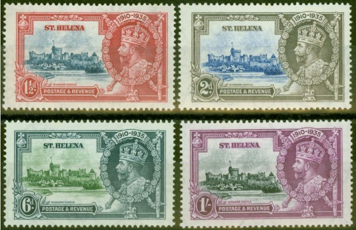 Valuable Postage Stamp from St Helena 1935 Jubilee set of 4 SG124-127 V.F Very Lightly Mtd Mint