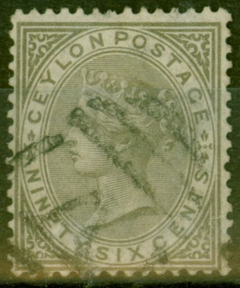 Valuable Postage Stamp from Ceylon 1872 96c Drab SG132 Fine Used