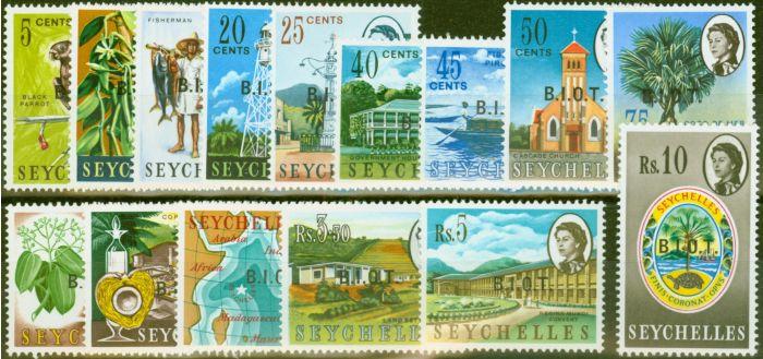 Rare Postage Stamp from B.I.O.T 1968 set of 15 SG1-15 V.F MNH