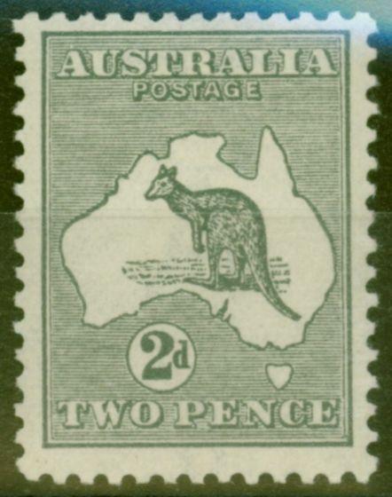 Rare Postage Stamp from Australia 1915 2d Grey SG35var BW 7 (u) d Coloured Flaw S.E Corner V.F Very Lightly Mtd Mint