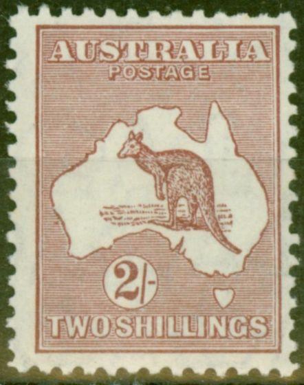 Valuable Postage Stamp from Australia 1929 2s Maroon SG110 BW39(1)g Var Colour Spot off WA Coast Fine LMM