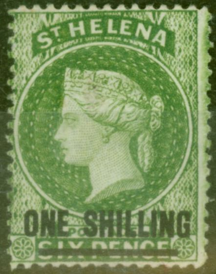 Valuable Postage Stamp from St Helena 1894 1s Yellow-Green SG45 Fine Mtd Mint