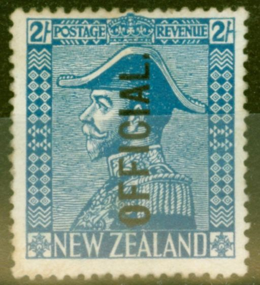 Collectible Postage Stamp from New Zealand 1928 2s Light Blue SG0112 Fine Mtd Mint